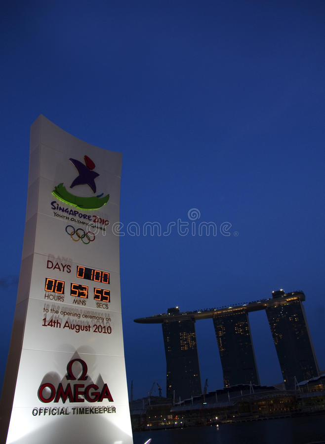Youth olympic games, singapore 2010 royalty free stock photo