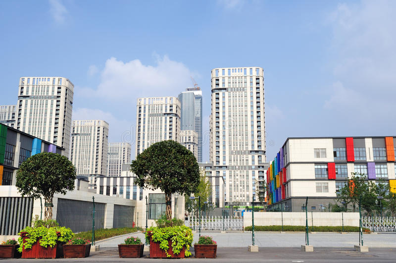 The Youth Olympic Village royalty free stock photo