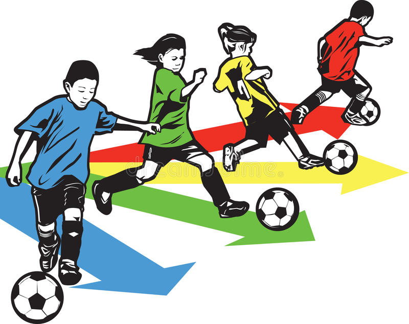 Download Youth Soccer Drill stock vector. Image of players, vector - 20395783