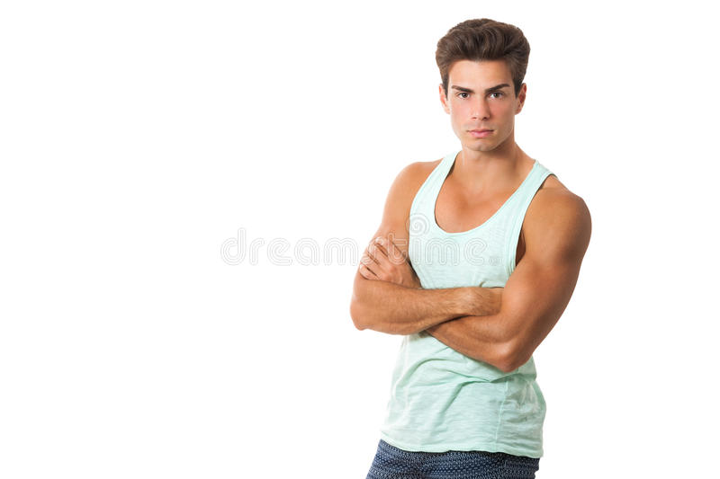Youthful bravado. Young handsome boy proud and confident. Arms crossed stock photos