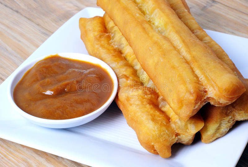 Youtiao or fried bread stick royalty free stock images