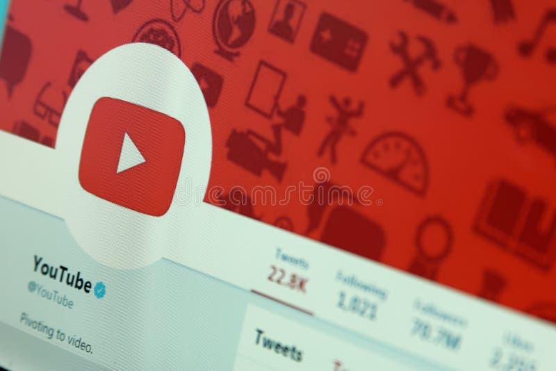 Youtube на twitter стоковое изображение