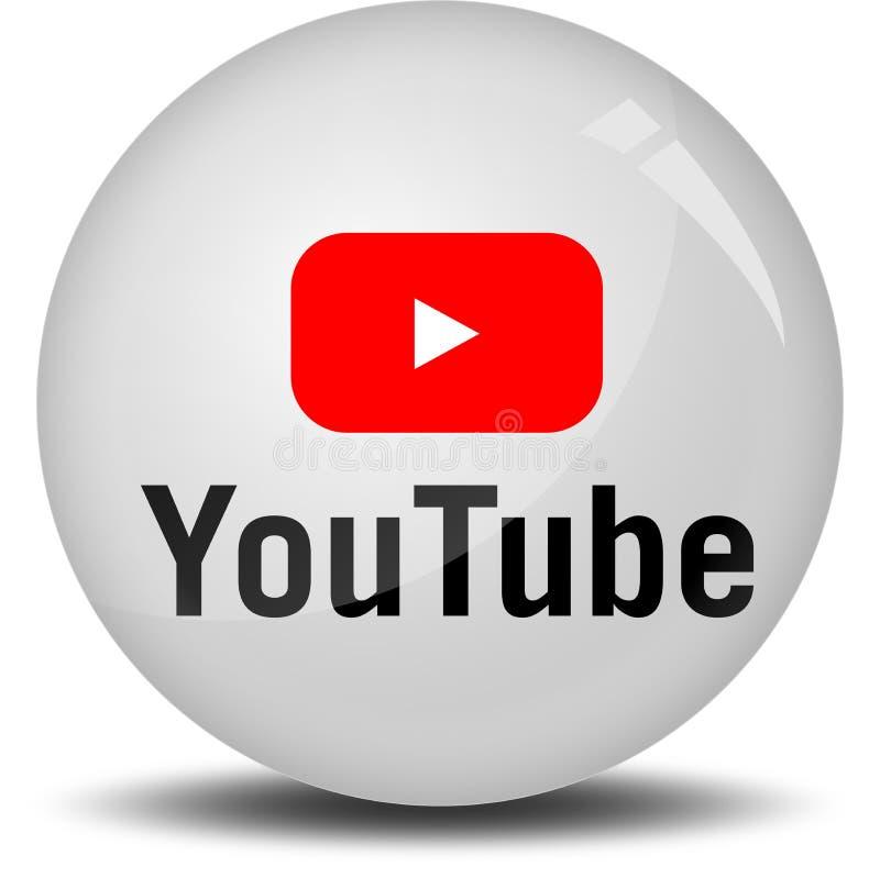 YouTube royaltyfri illustrationer