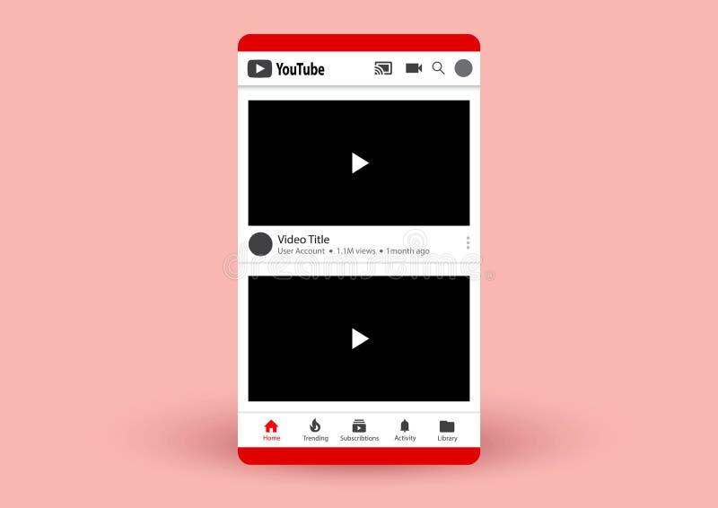 YouTube απεικόνιση αποθεμάτων