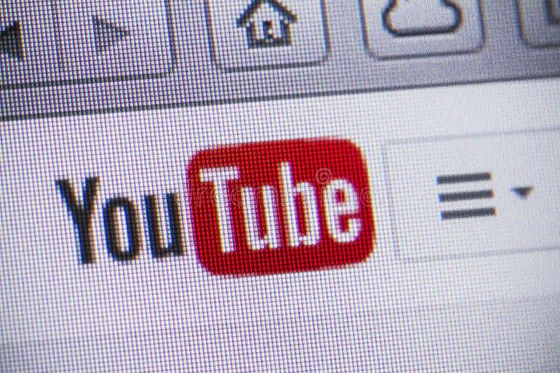 YouTube fotografia stock