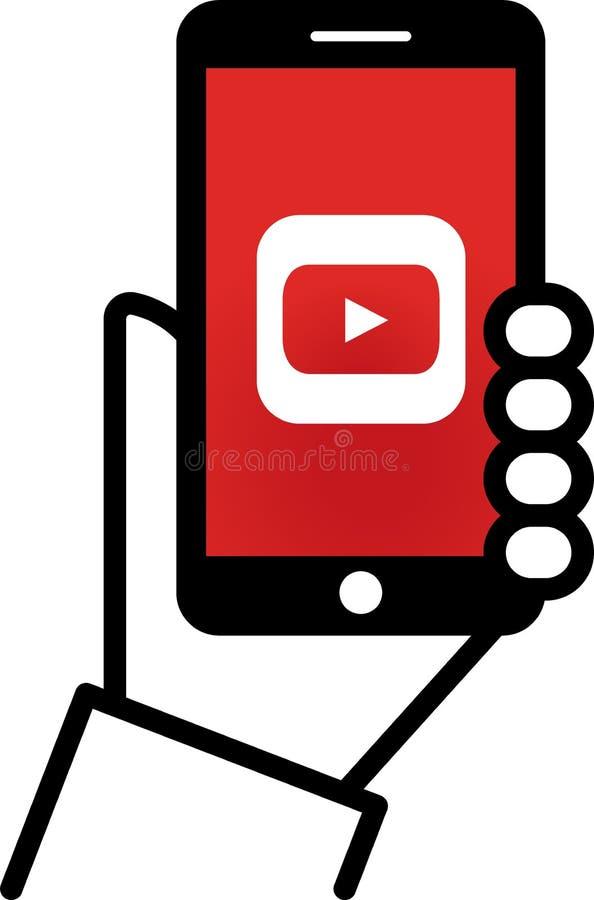 YouTube royalty ilustracja