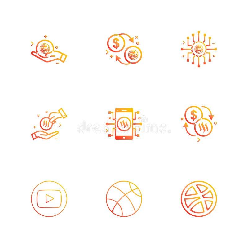 youtube dribbling, basket, samband, nxs som är crypto, valuta royaltyfri illustrationer