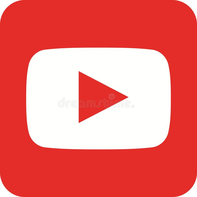 Youtube i иллюстрация вектора