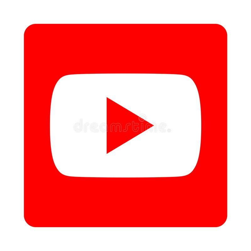 Youtube icon. Simple vector filled flat youtube icon isolated on white background. social media icon royalty free illustration