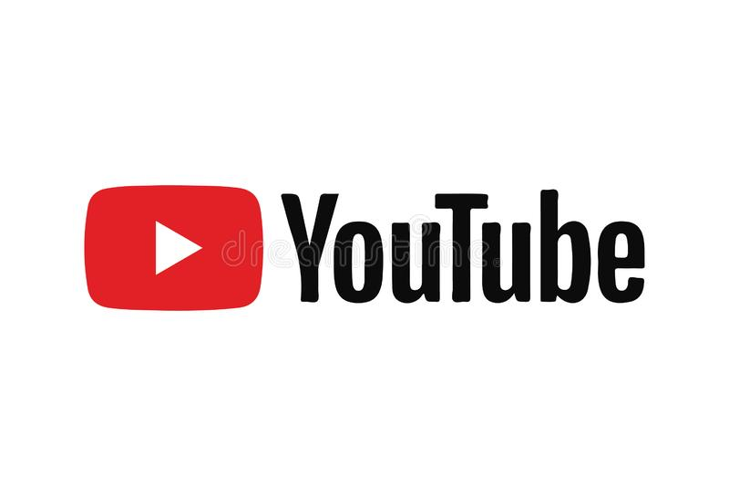 Youtube-Ikone Logo Vector Illustration stock abbildung