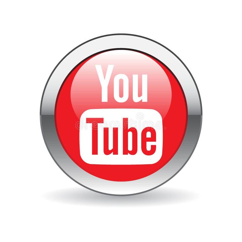 Youtube-Ikonenknopf lizenzfreie abbildung
