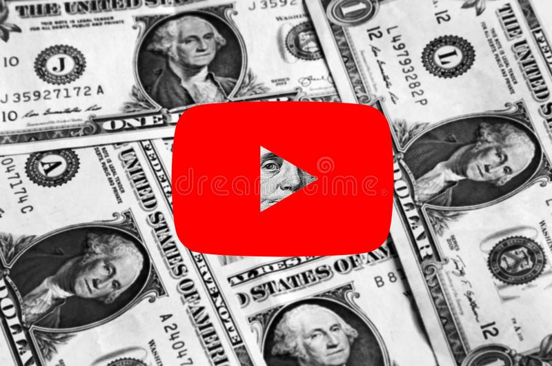 Youtube-Ikonenlogo lizenzfreie stockfotos