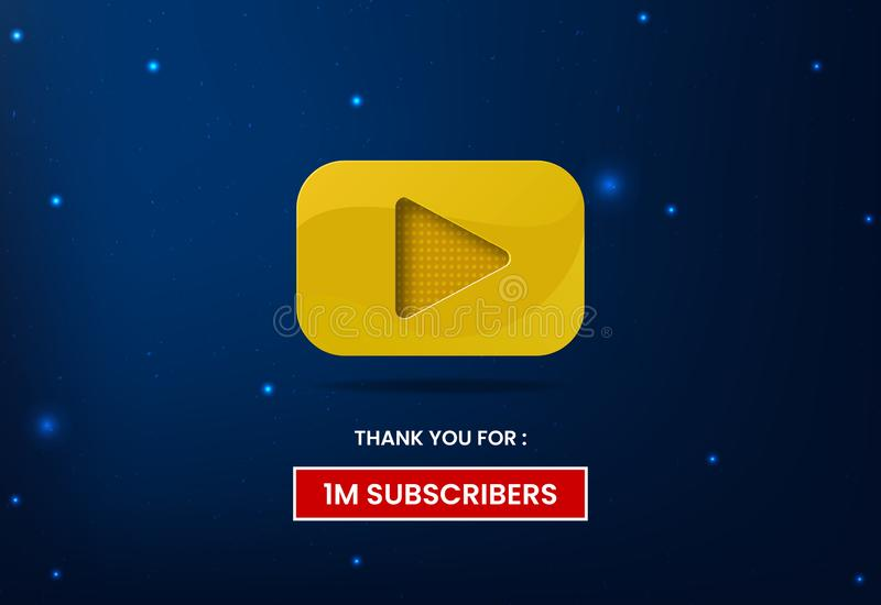 Youtube lekknapp vektor illustrationer
