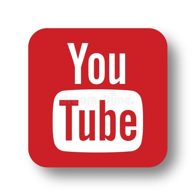 Youtube logo icon editorial stock photo. Illustration of icon ...