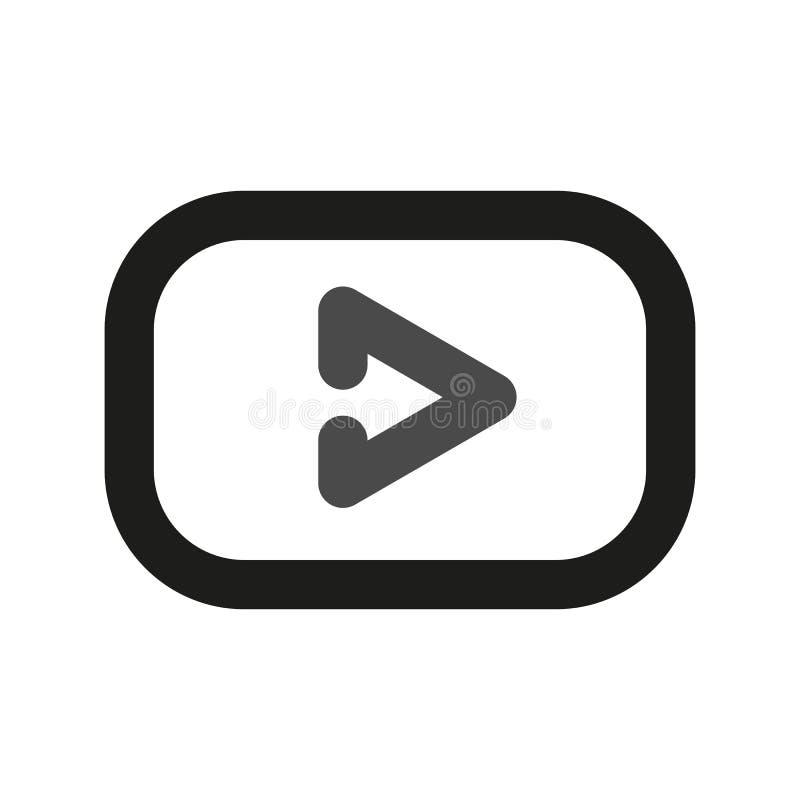 YouTube logo Proste kreskowe ikony dla sieci zdjęcia stock
