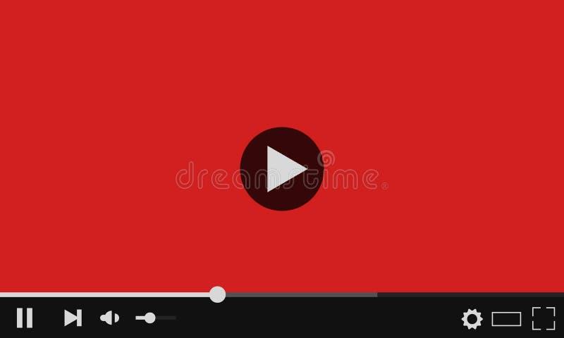 YouTube-Netzvideo-player Moderne Auslegung lizenzfreie abbildung