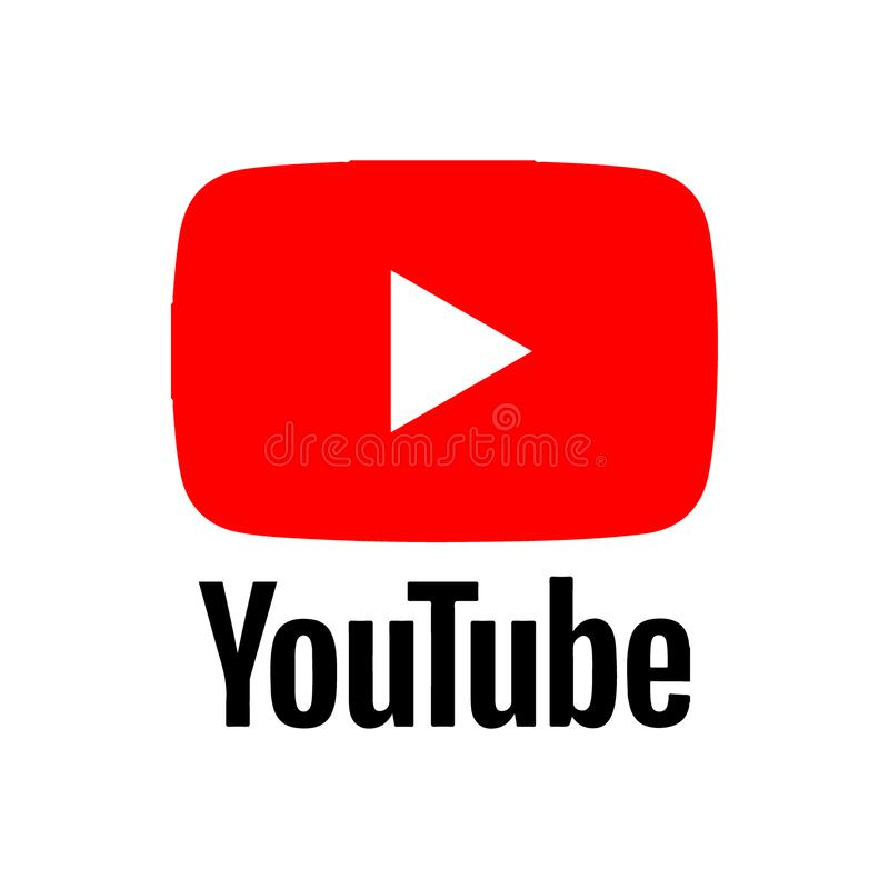 Youtube logo. Vector illustration -Youtube app logo red and black color - isolated on white background vector illustration