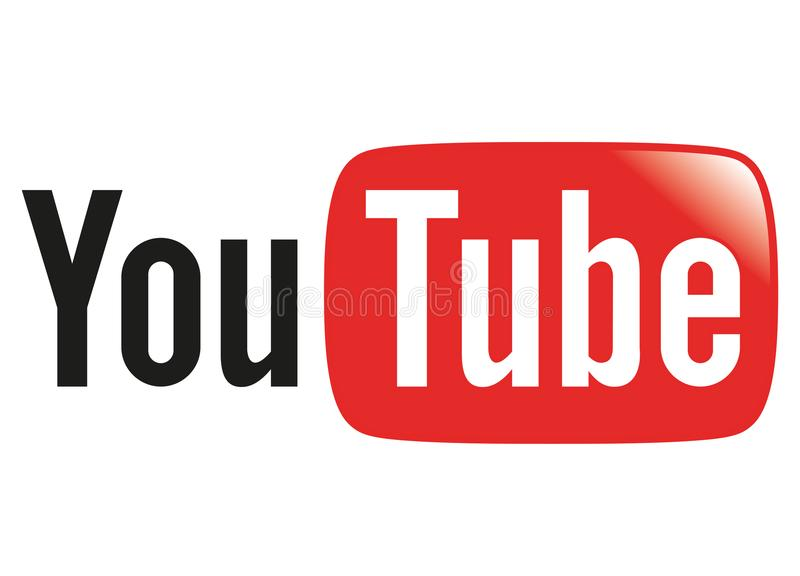 Youtube Ogólnospołeczny Medialny logo ilustracja wektor