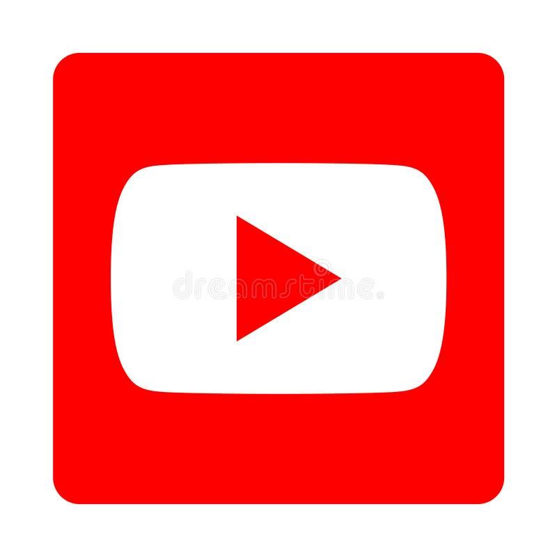 Youtube symbol royaltyfri illustrationer