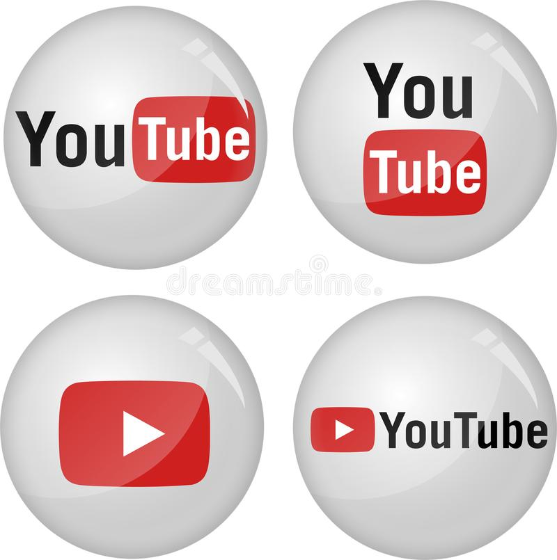 Youtube symbolssamling arkivbilder