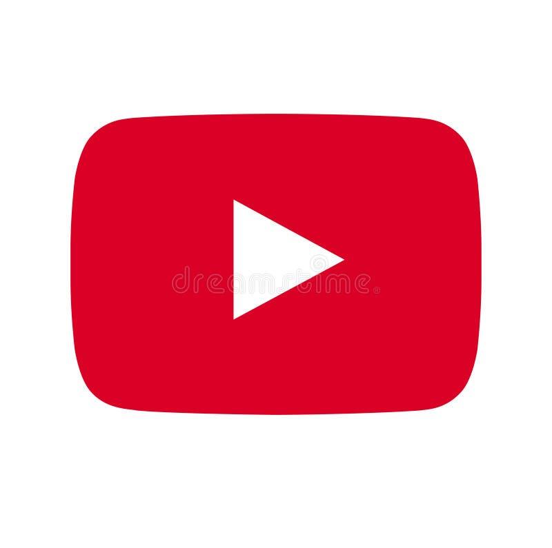 Youtube symbolsvektor vektor illustrationer
