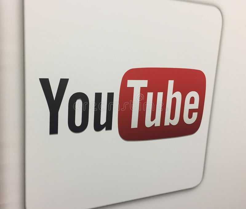 YouTubeembleem stock foto