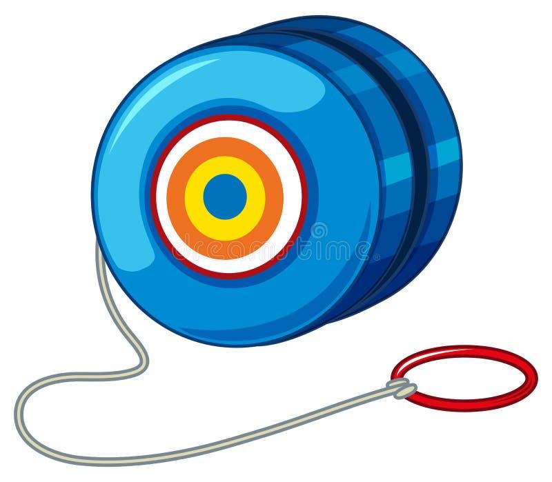 Yoyo azul con el anillo rojo ilustración del vector
