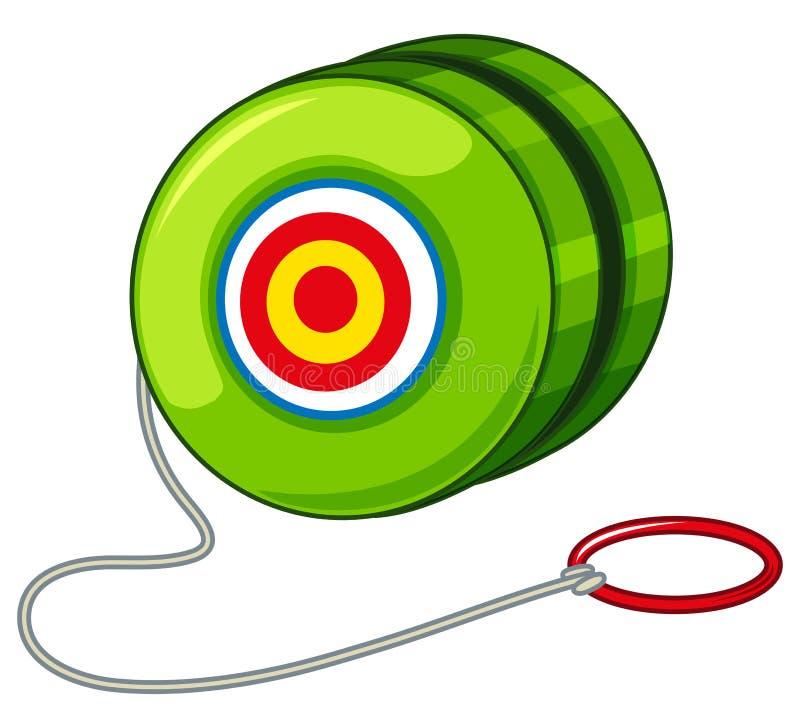 Yoyo verde com anel vermelho ilustração do vetor
