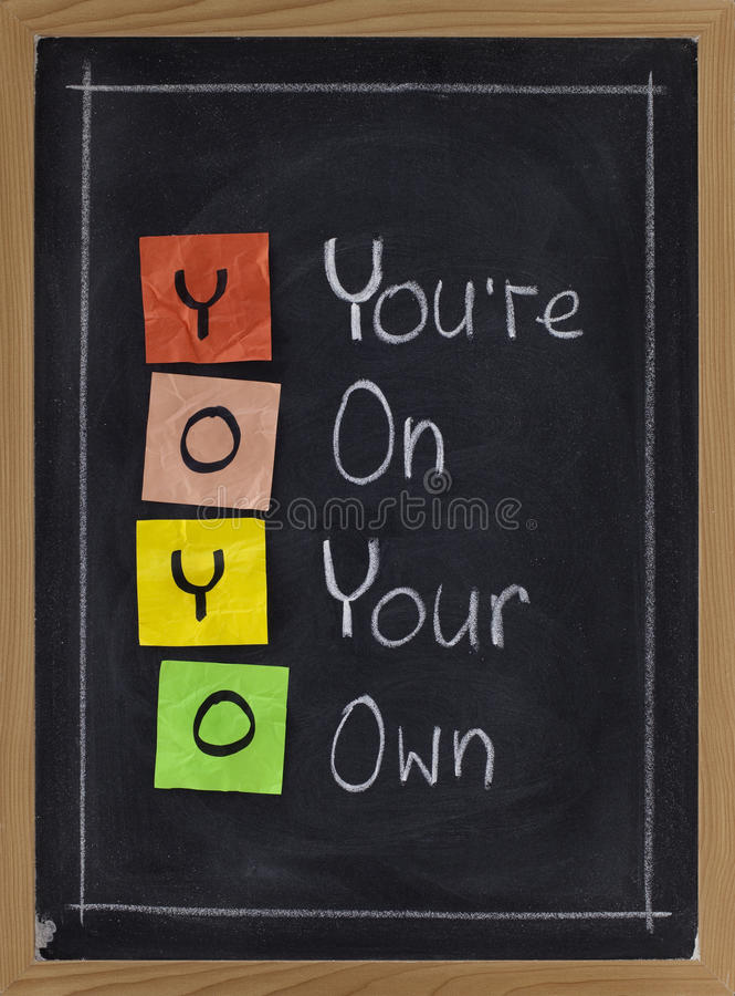 Download Yoyo - you are on your own stock photo. Image of handwriting - 14739672
