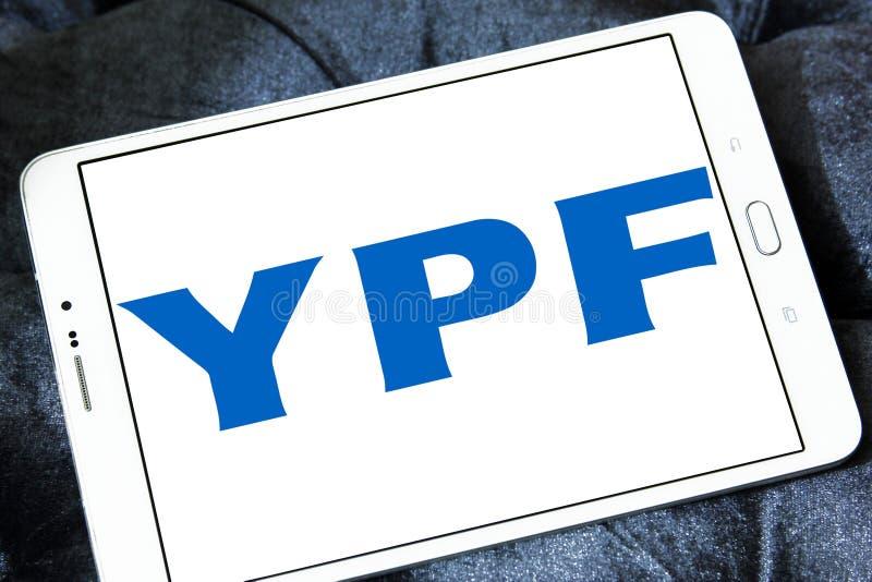 YPF, logo fiscal de compagnie de pétrole et de gaz de gisements de pétrole images stock