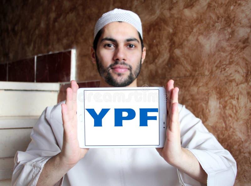 YPF, logo fiscal de compagnie de pétrole et de gaz de gisements de pétrole photos libres de droits