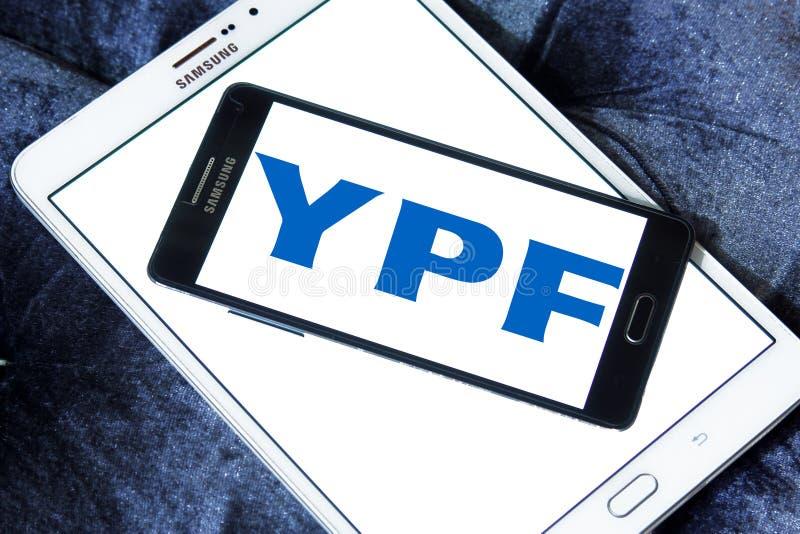 YPF, logo fiscal de compagnie de pétrole et de gaz de gisements de pétrole image libre de droits