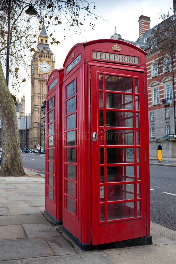 Download Ypical Red Phone Booths With The Big Ben In Stock Image - Image: 12803459