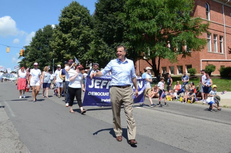 Ypsilantivierde van Juli-parade - Irwin stock foto's