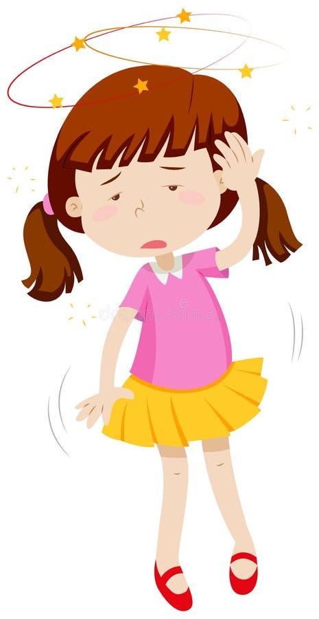 Yr liten flickakänsla royaltyfri illustrationer