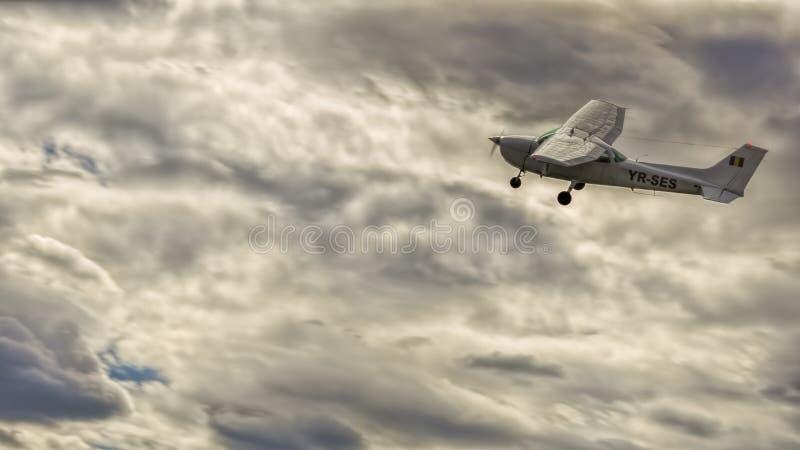 YR-SES. At AeroNautic Show 2013 - Morii Lake, Bucharest during acrobatics royalty free stock photo