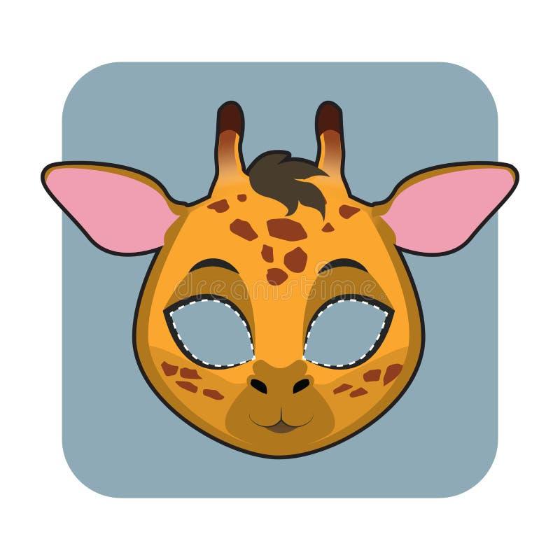 Żyrafy maska dla godów ilustracji