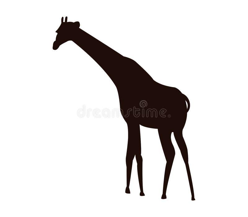 Żyrafy sylwetka ilustrująca royalty ilustracja