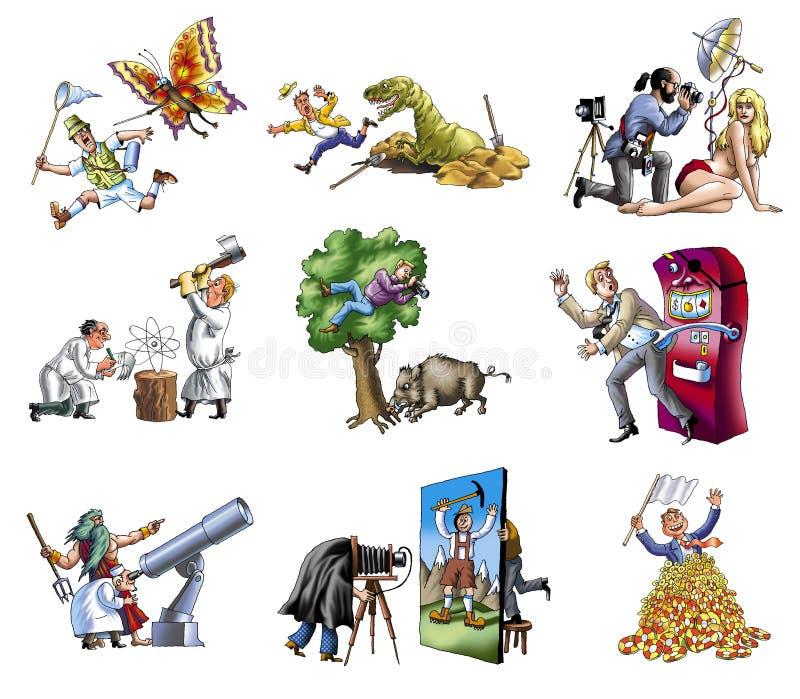 yrke 4 stock illustrationer