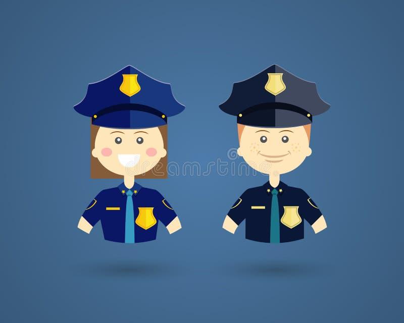 Yrken - poliser royaltyfri illustrationer