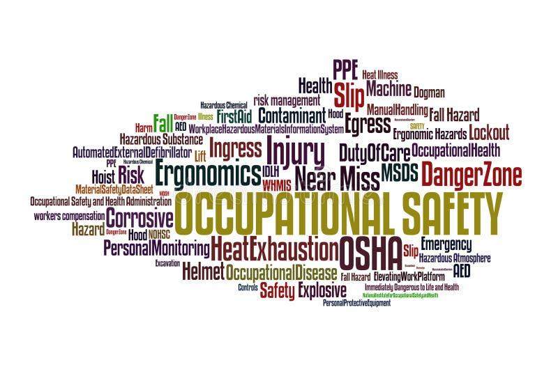 yrkes- säkerhet royaltyfri illustrationer