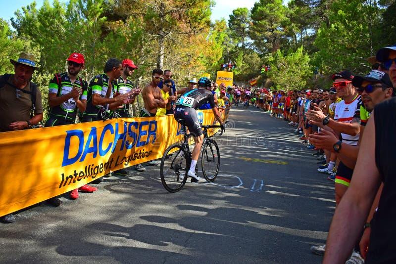 Yrkesmässig cyklist Salvatore Puccio Team Sky fotografering för bildbyråer