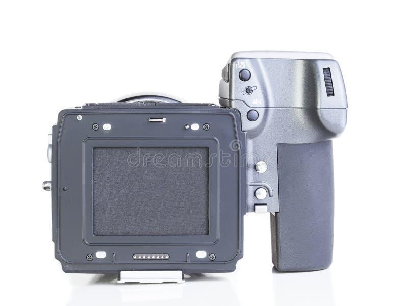 Yrkesmässig digital kamera för yrkesmässigt medelformat arkivbild