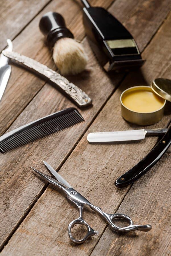 Yrkesmässig elektrisk hårbeskärare arkivbild