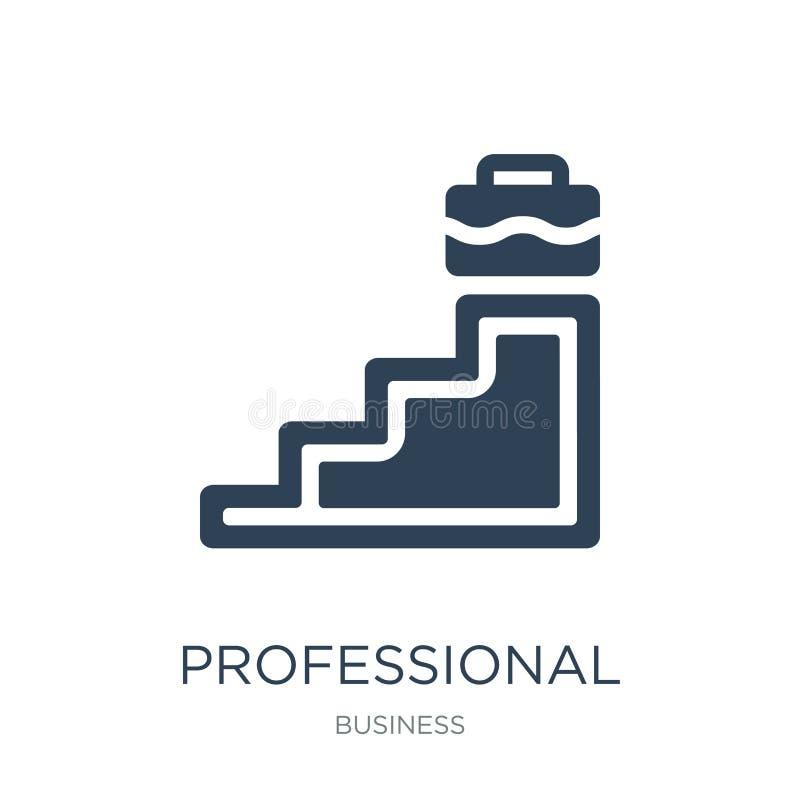 yrkesmässig för- symbol i moderiktig designstil yrkesmässig för- symbol som isoleras på vit bakgrund yrkesmässig framflyttning stock illustrationer
