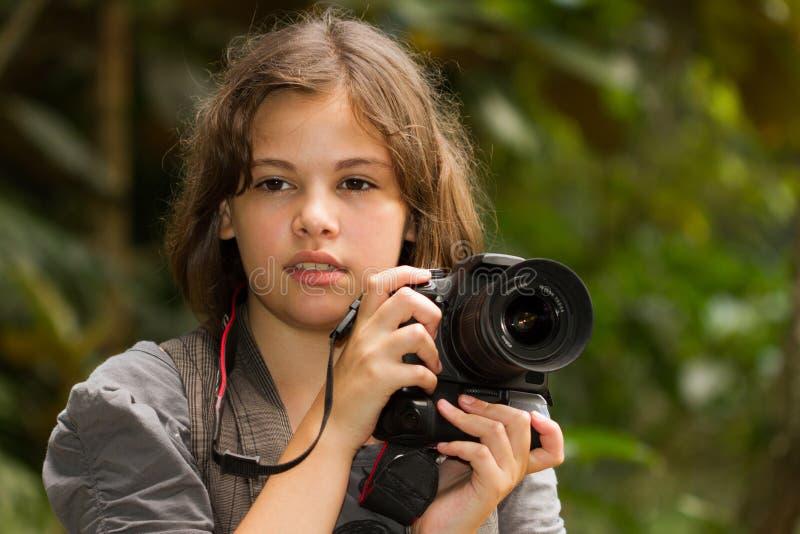 Yrkesmässig fotograf arkivfoto