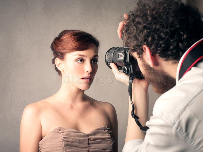 Yrkesmässig fotograf royaltyfri foto