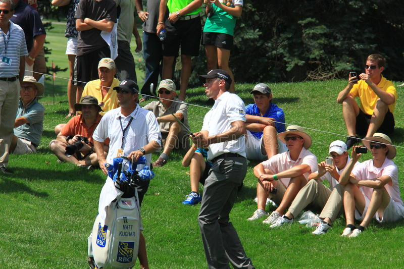 Yrkesmässig golfare Matt Kuchar royaltyfri foto