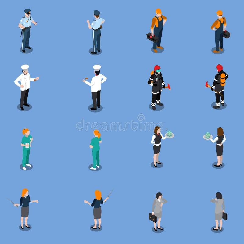 Yrkesmässig hjälpmedelkläderuppsättning vektor illustrationer