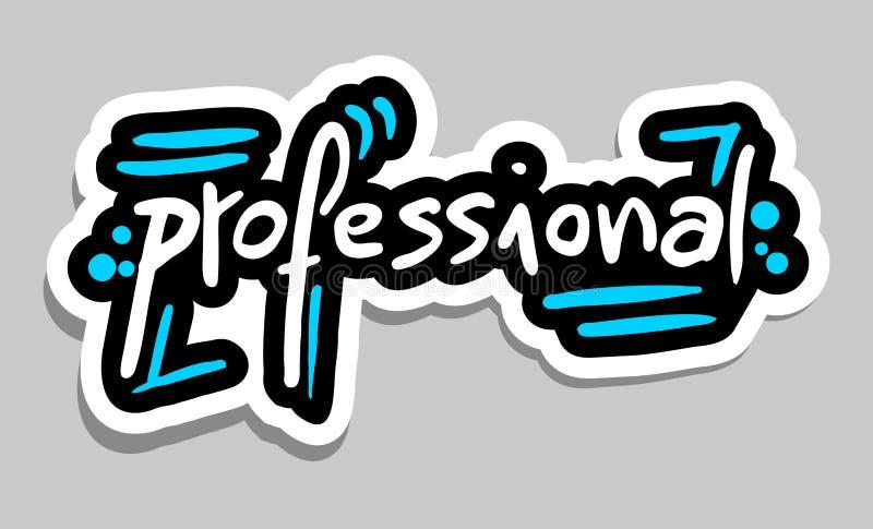 Yrkesmässig klistermärke royaltyfri illustrationer